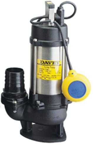 "Davey DT15/SS Sump Pump 1.5kW General Purpose Dewatering Model 415V 3"" Outlet - Click Image to Close"