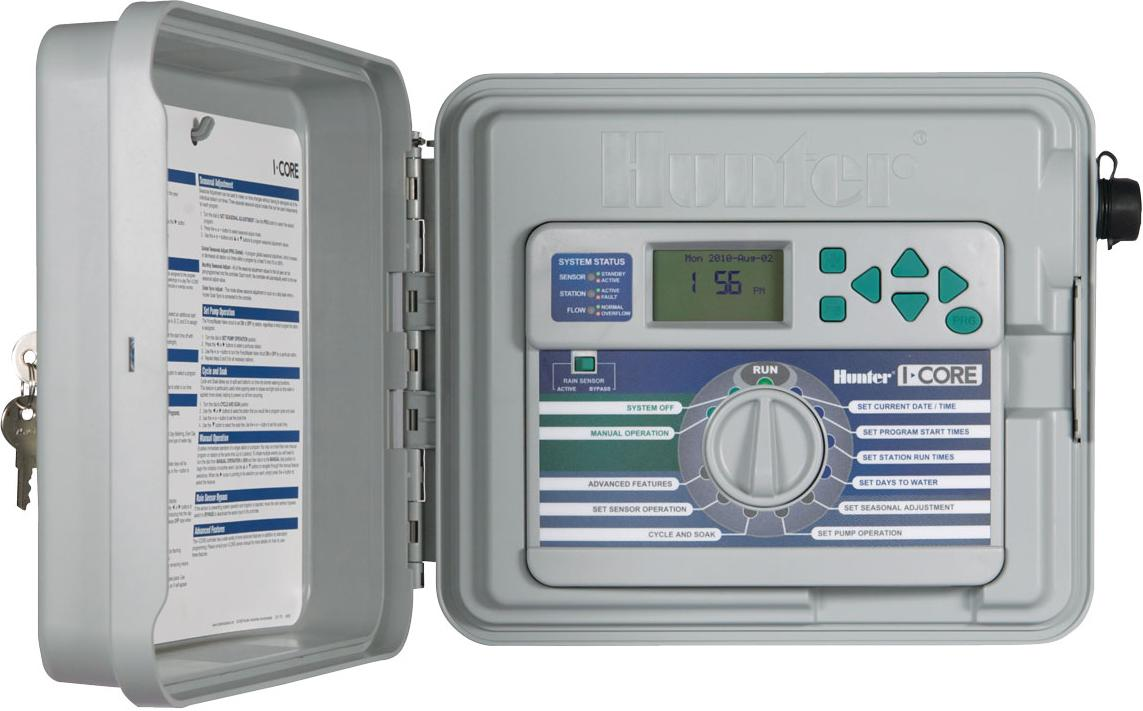 Hunter I-Core 6 Station Controller Plastic Cabinet expandable to 30 Stations